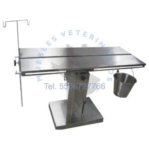 Mesa de cirugia hidraulica veterinaria 100% acero inoxidable